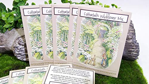 12 Peter Rabbit Garden Party Seed Packet Favors (1 dozen) - Cottontail's Wildflower Mix - Beatrix Potter Baby Shower or Birthday]()