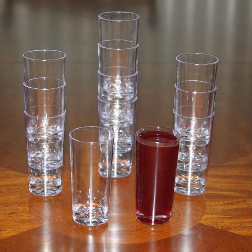 Polar Ice Plastic Straight Wall Shooter Glasses, 1.75-Ounce, Clear, 50-Pack - Tapered Shot Glass