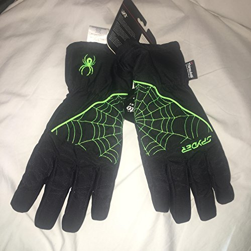 - Spyder Youth Kyd's Xt (Special Coating) Performance Ski Snowboard Glove - Black / Bryte Green - XL