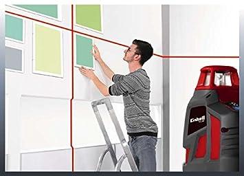 Rojo, Einhell 2270110 Nivel Laser Cruzado Vertical TE-ll Horizontal de 360 Grados Rango de Trabajo 20 m 1.5 V