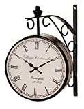 RoyalsCart Double Sided Railway Station/Platform Analog Wall Clock Standard Black