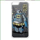 bat hero 6 baymax love batman for iPhone 6 Plus White Case