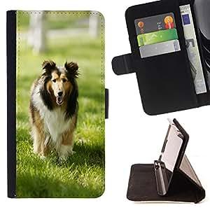 Dragon Case- Mappen-Kasten-Prima caja de la PU billetera de cuero con ranuras para tarjetas, efectivo Compartimiento desmontable y correa para la mu?eca FOR Sony Xperia Z1 C6902 C6903 C6906- Dog Cute Puppy Pet Paws