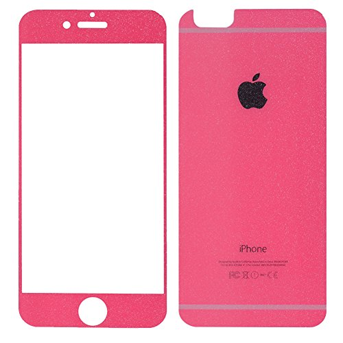 Edup iphone 6 plus 5.5 Tempered Glass,full Screen Tempered Glass Front+back Screen Protector Frame Colorful Plating Cartoon for Iphone 6s plus Cell Phone Protective 9h Film (Iphone 6 5.5Inch) (red) by EDUP