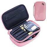 Travel Makeup Bag With Brush Holder Cosmetic Bag Makeup Case Pink Deal