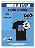 iron on transfers for fabric - PPD Inkjet Iron-On Dark T Shirt Transfers Paper LTR 8.5x11