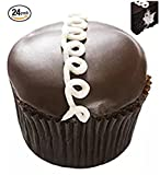 Chocolate Cream Filled Mini-Cupcakes - Marshmallow Creme Filling Dessert - 24 Pack - Baked Fresh Day of Order