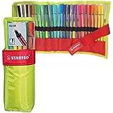 STABILO Pen 68 Pennarelli colori assortiti - Rollerset da 25