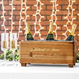 crate and barrel metal stools Personalized Engraved Wooden Wine Trough Alternative Party Ice Bucket