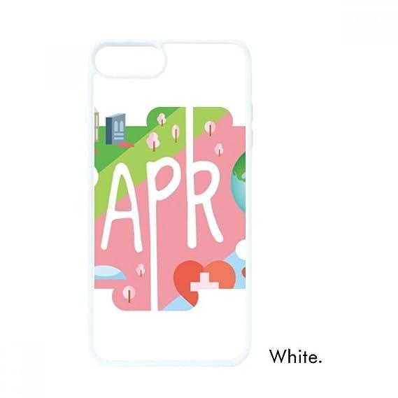 Amazon.com: April Month Season Illustration for iPhone 7/8 ...