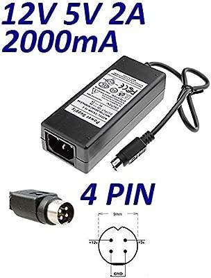 Cargador Corriente 12V 5V 2A 4 PIN Reemplazo Wattac BA0362ZI-8-A02 Recambio Replacement
