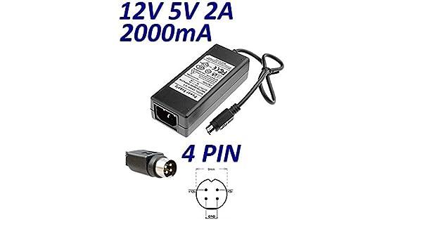 Cargador Corriente 12V 5V 2A 4 PIN Reemplazo Disco Duro ...