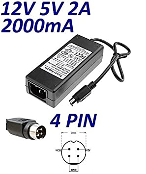 Cargador Corriente 12V 5V 2A 4 PIN Reemplazo STOREX SPP34 Wattac BA0362ZI-8-B02 BA0362ZI-8-A02 Recambio Replacement