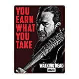 The Walking Dead Sherpa Fleece Blanket/Throw (Multi Color, 4560) - Decorative Wall Hanging/Tapestires Throw Sofa Blanket