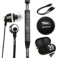 Klipsch Image S4A II In-Ear Enhanced Bass Noise-Isolating Headphone ANDROID (1014816) Monoprice 6-inch 3.5mm Splitter Stereo 3.5mm Stereo Jack Cable & Buydig Earphone Case Black