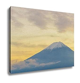 Amazon.com: Ashley Canvas, Mount Fuji Sunset Japan, Wall Art Home ...