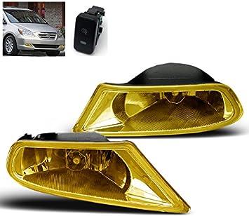 FOR 2011 2012 2013 HONDA ODYSSEY EX EXL LX BUMPER YELLOW FOG LIGHTS LAMP KIT NEW