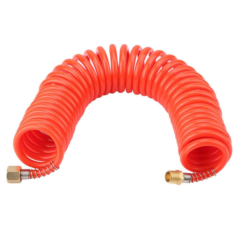 FTVOGUE 5m US Style Compressed Air Retractable PU Pneumatic Hose with 1//4in Male//Female Connector