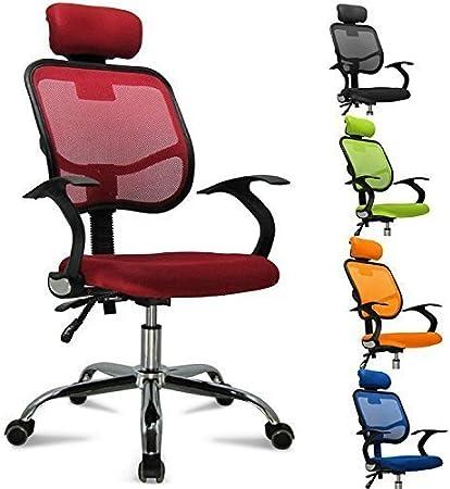 Femor Chaise Fauteuil Pivotante Bureau Chaise pour Ordinateur, Hauteur Réglable, Fauteuil en Maille, Siège Ergonomique, Oreiller Réglable, Support