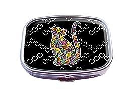 Supremecom Personalise Custom Silver Square Pill Box Pocket Medicine Tablet Holder Organizer Pill Decoration Case Or Wallet