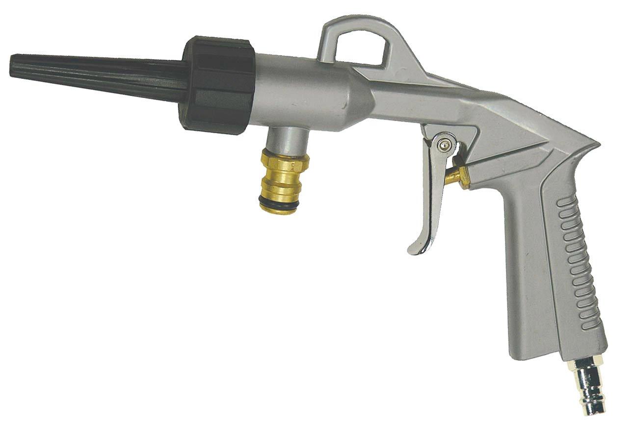Druckluft Waschpistole Blaspistole fü r Reinigungsarbeiten, Autowä sche u.s.w. holz-metall