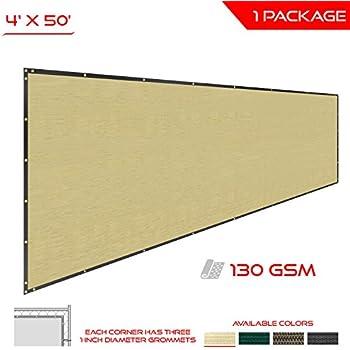The Patio Shop Privacy Fence Screen 4u0027 X 50u0027 Commercial Outdoor Shade  Windscreen Mesh