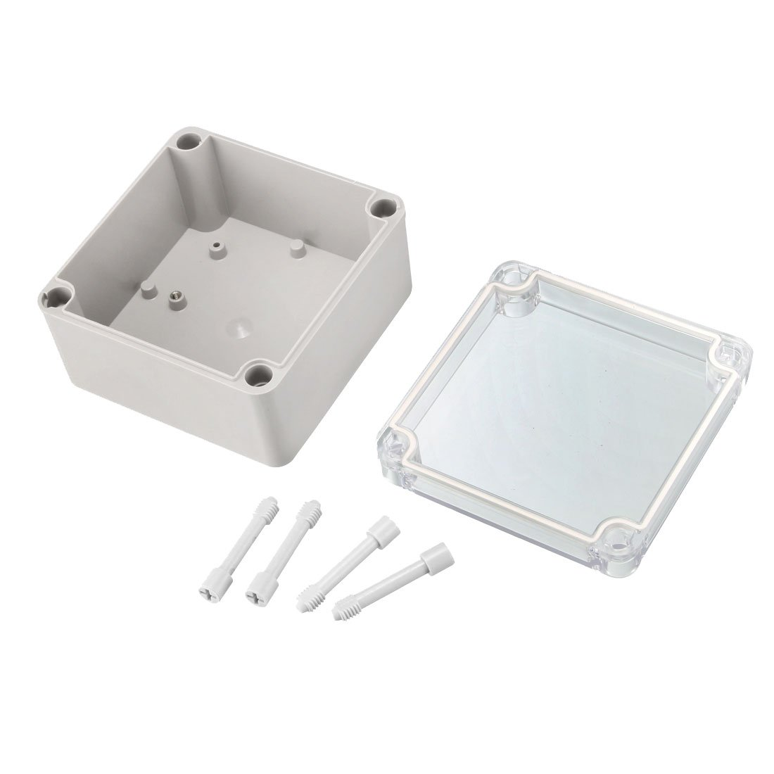 sourcingmap 200 x 120 x 75mm Electronic Plastic DIY Junction Box Enclosure Case w Clear Cover