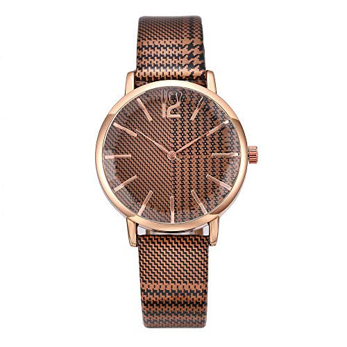 (LUXISDE Watch Women Women Fashion Cut Face Belt Watch Casual Temperament Quartz Watch H)