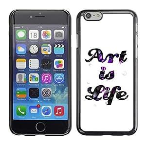 PC/Aluminum Funda Carcasa protectora para Apple Iphone 6 Plus 5.5 Art Life Quote Creativity Inspiration Sign / JUSTGO PHONE PROTECTOR