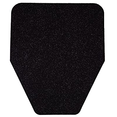 Modern Industrial Urinal Mat (6-Pack) Antimicrobial, Non-Slip, Odor-Eliminating Disposable Mats (Black)