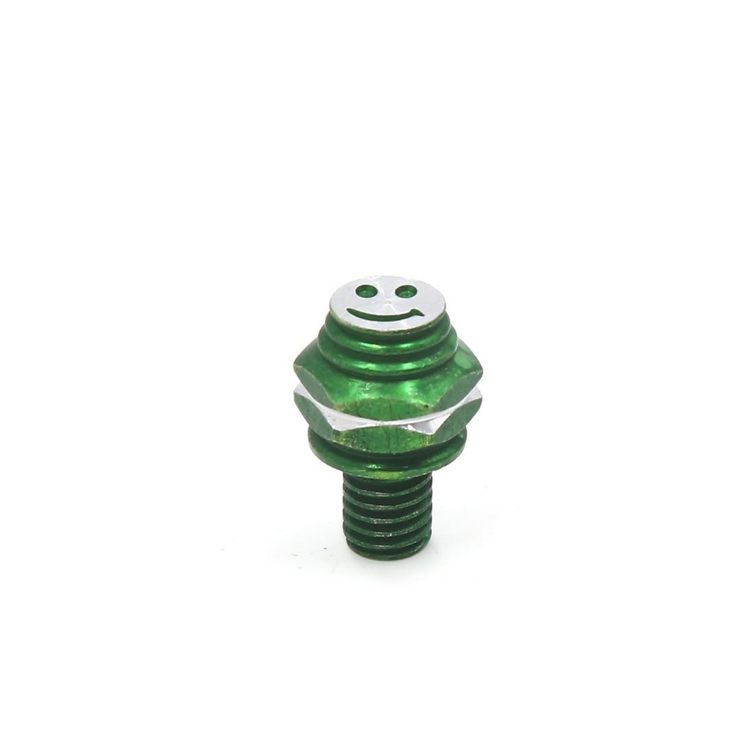 uxcell 8pcs M8 x 10mm Smiling Face Pattern Motorcycle Hex Screws Bolts Fasteners Green