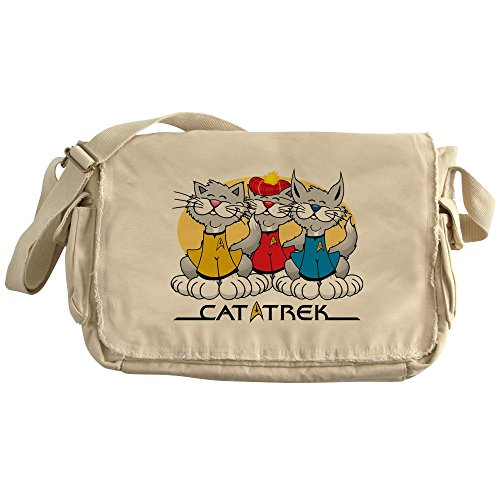 CafePress - Cat Trek - Unique Messenger Bag, Canvas Courier Bag ()