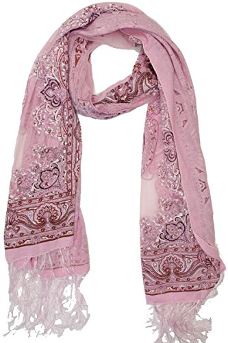 Marilyn & Main Women's Burnout Vintage Paisley Fashion Shawl Wrap Scarf (One Size, Pink)