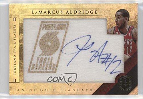 LaMarcus Aldridge #152/199 (Basketball Card) 2010-11 Panini Gold Standard - Gold NBA Team Logo Patch Signatures #36