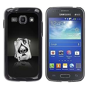 YiPhone /// Prima de resorte delgada de la cubierta del caso de Shell Armor - Ace Of Spades Skull - Samsung Galaxy Ace 3 GT-S7270 GT-S7275 GT-S7272