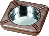 Visol Products VASH850 ''Laurel'' Square Cigarette Ashtray, Natural Maple Wood and Walnut