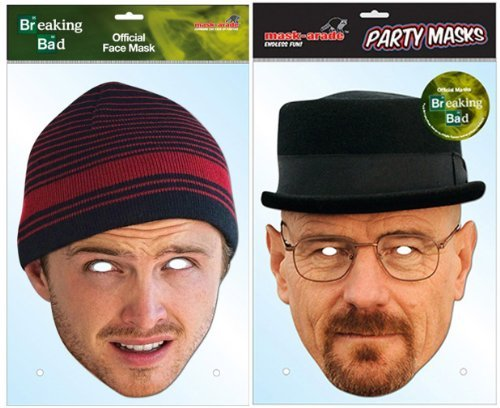 [TWIN PACK Breaking Bad - 2 x Officially Licensed Breaking Bad Masks] (Breaking Bad Jesse Costumes)