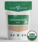 Cheap Nature Restore USDA Certified Organic Camu Camu Berry Powder (4 Ounces), Most Affordable Camu on Amazon! Non-GMO, Gluten Free