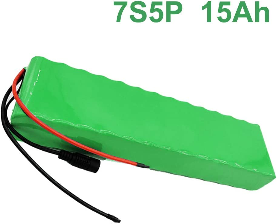 24V 15Ah 25.9V 7S5P Li-ion Paquete de baterías E-Bike bicicleta ...