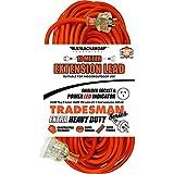 UR24010T 10M Heavy Duty Extension Lead Tradesman- Orange& Clear Plug - 9314857001785
