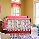 Go Mama Go Designs WildThing Teething Guard, Pink, 52'' x 12''