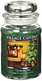 Village Candle Christmas Tree 26 oz Glass Jar Scented Candle, Large