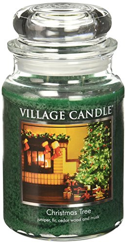 Village Candle Christmas Tree 26 oz Glass Jar Scented Candle, Large by Village Candle
