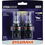 SYLVANIA 9004 XtraVision Halogen Headlight Bulb, (Pack of 2)