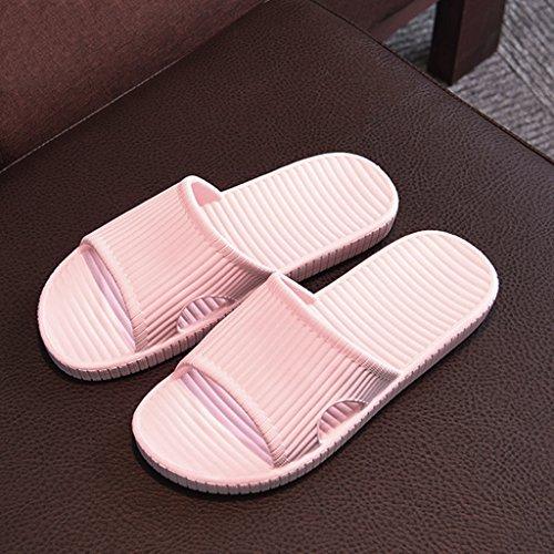 Plein Glissière Pantoufles Plage Prettyia Air Léger Sandales Étanche P de Chaussures de Piscine Maison Tongs Rose EwOSqxI