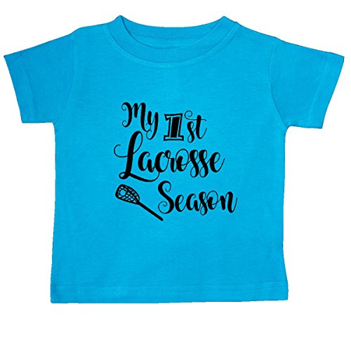 Inktastic - my 1st lacrosse season Babe in arms T-Shirt 12 Months Turquoise