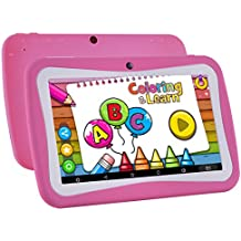 Kids Tablet Android 7.1, 7 Inch, HD Display, Quad Core, Children's Tablet, 1GB RAM + 8GB ROM, with WIFI, Dual Camera, Bluetooth, Educational, Multi Touch Screen Kid Model, Parental Control