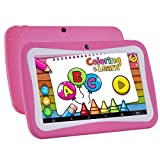 7 inch quad tablet case - Kids Tablet Android 7.1, 7 Inch, HD Display, Quad Core, Children's Tablet, 1GB RAM + 8GB ROM, with WIFI, Dual Camera, Bluetooth, Educational, Multi Touch Screen Kid Model, Parental Control