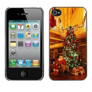 YOYO Slim PC / Aluminium Case Cover Armor Shell Portection //Christmas Holiday Santa Gifts & Tree 1118 //Apple Iphone 4
