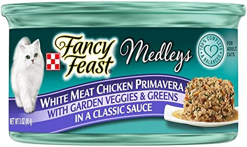 Fancy Feast Elegant Medley s White Meat Chicken Primavera w Garden Veggies And Greens Cat Food 24 – 3oz Cans
